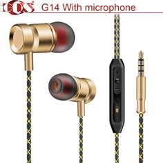 Original iGDS G14 In-Ear earphones special metal high quality heavy bass sound With microphone for all phone xiaomi