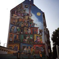 düsseldorf, germany (street art, mural, wall, building, great, amazing, beautiful, cool, interesting, creative)