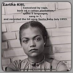 Black American OURstory: Eartha Kitt was definitely amazing. <She sang so many great songs that it kind of like me people know her for Santa Baby and Batman. She was so very talented.