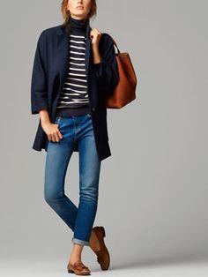 Suits – Blazers – WOMEN – Massimo Dutti – United States of America – Hijab Fashion 2020 Preppy Outfits, Mode Outfits, Fashion Outfits, Navy Blazer Outfits, Blazers For Women, Jackets For Women, Clothes For Women, Navy Coat, Mode Hijab