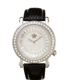 204adeee9ace8 Juicy Couture Queen Couture Black Silver Watch…yes please!