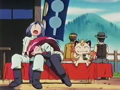 For some reason, watching Meowth eat his snack and eavesdrop cracked me up....