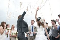 Three cheers for a wedding high five!