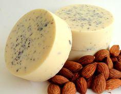 HONEY ALMOND SOAP Handmade Exfoliating Hand Soap With Clover Honey And Ground Almonds