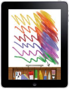 Great Creative iPad Apps for Kids - Drawing Pad #iphone #ipad #kids