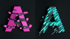 3D Paper Type Treatments in Atype by Lobulo