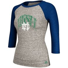 adidas Notre Dame Fighting Irish Raglan Tee - Women