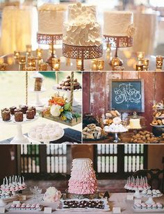 Pin for Later: 11 Darling Wedding Dessert Tables, From Rustic to Romantic