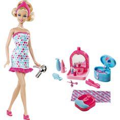 Boneca Barbie Real Salão de Beleza Mattel - Americanas.com