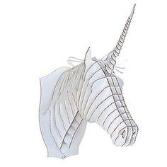 "Cabeza de Unicornio de Cartón Grande ""Merlin"""