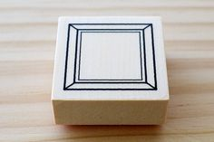 Rubber stamp  Frame of the square  Btype by karaku on Etsy, ¥650