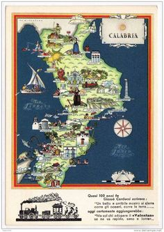 Nicouline - Map of Calabria