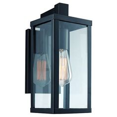Bel Air Acrylic Glass Outdoor Wall Light : Target