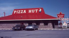 The Good Times: Pizza & Movie Night! A vintage pic of a Pizza hut that's really similar to the one in my hometown.