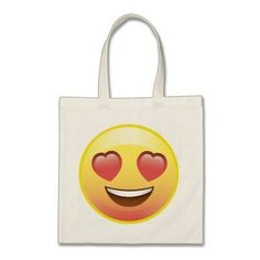 Heart Eyes Happy Love Emoji Tote Bag