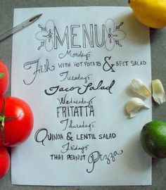 Hand Lettering Practice #1 {Meal Planning}