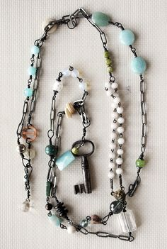 Antique Key Necklace by Rebecca Sower