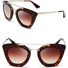 Prada Cat Eye Sunglasses, 49mm (545 SGD) ❤ liked on Polyvore featuring jewelry, prada, prada jewelry and cats eye jewelry