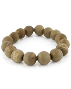 "<ul> 	<li>NEST Jewelry Gold Bead Stretch Bracelet</li> 	<li>2½"" diameter</li> 	<li>Beads are ½"" in diameter</li> </ul>"