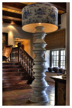 Hout Bay Manor Reception area with Gregor Jenkin's exagerated standing lamp D Lighting, Luxury Lighting, Interior Lighting, Luxury Interior, Interior Ideas, Plascon Colours, South African Design, Dutch Colonial, Colonial Architecture