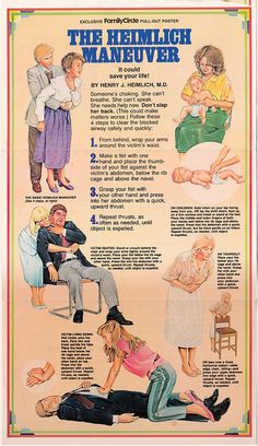vintage heimlich maneuver poster http://www.pinterest.com/sthomas68/occupational-and-physical-therapy/