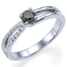 080 carats Round Cut Natural Black Diamond Engagement by ldiamonds, $834.00