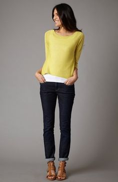 Eileen Fisher Top, Tank & Ankle Jeans WISH SHE WOULD MAKE THOSE SHOES AGAIN!!