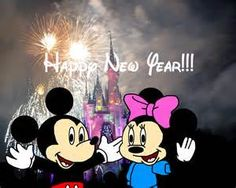heres mickey mouse and minnie mouse wishing happy new year mickey mouse and minnie mouse are owned by disney mickey and minnie wish happy new year