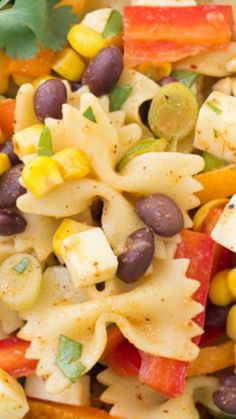 Southwestern Pasta Salad with a spicy chili-lime dressing ~ Full of Flavor...  a crowd-pleaser!