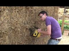 Build a shed from straw bales (a good first project)