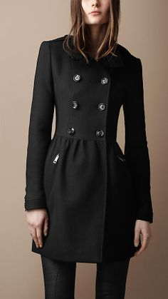 Burberry wool dress coat - LOVE!!
