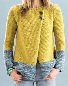 Très chic et colorée, on aime cette veste qui vous tiendra parfaitement au chaud durant vos longues soirées d'hiver. Tricoté en PHIL LOOPING coloris Colza et Flanelle.