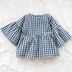 Organic elvira blouse - Piecemeal - Via Thumbeline Little Fashion, Baby Girl Fashion, Kids Fashion, Latest Fashion, Little Girl Dresses, Baby Sewing, My Baby Girl, Kind Mode, Kids Wear