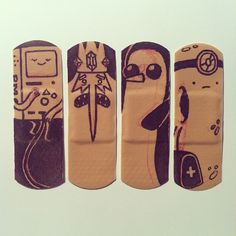 Adventure Time Bandaids! New mission: create art with every injury