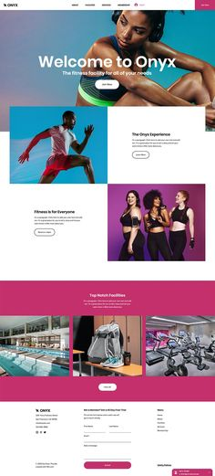 Fitness Facility Website Template | Wix Website Templates