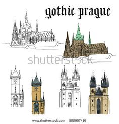 Trippy Drawings, Easy Drawings, Landscape Drawings, Landscape Illustration, Square Drawing, Prague Travel, Old Town Square, Wood Burning Art, Simple Doodles