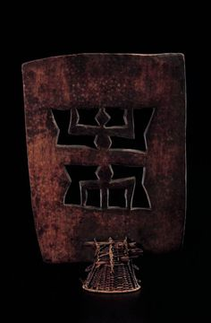 Africa   Dance crest from the Senufo people of the Ivory Coast. Wood with basketry base. H: 85 cm