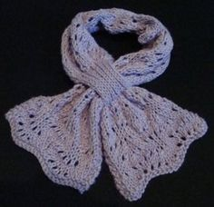 Crafted with a lightweight silk and wool yarn, the One Skein Butterfly Scarf will make you feel on top of the world every time you wear it. The lace stitch, made from a modified ostrich plume, gives this scarf an ethereal quality that's truly fit for a goddess.