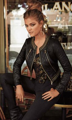 Nina Agdal – bebe 'Just Your Luxe' August 2014 Cool Outfits, Fashion Outfits, Womens Fashion, Nina Agdal, Outfit Trends, Outfit Ideas, Jackets For Women, Clothes For Women, Leather Dresses