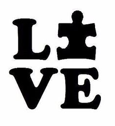 LOVE Autism Awareness Vinyl Decal Autism Speaks Stickers Support Puzzle Piece
