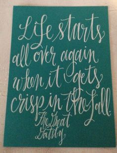 The Great Gatsby quote  on 5 x 7 inch card stock by InkandPenShop,