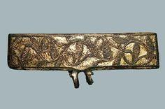 Book binding decoration found in Ostrów Lednicki, Poland.  Culture: Slavic (West Slavs - early Polish state) Timeline: c. 10th-11th century