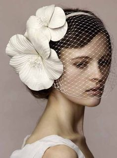 Lovely veil and fascinator. Headpiece Wedding, Wedding Veils, Bridal Headpieces, Wedding Dress, Hair Wedding, Wedding Makeup, Wedding Bride, Vintage Wedding Hats, Vintage Hats