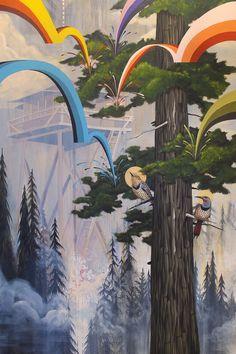 """Preposterous Pine Cones & Flemish Flickers"" 70 x Acrylic on Canvas Holy Week, Artist Painting, Earth Tones, Bird Art, Contemporary Artists, Cartoon Art, Artsy Fartsy, Models, Board Ideas"