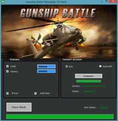 Gunship Battle Helicopter 3d Hack Cheats Tool  Gunship Battle Helicopter 3d Hack is Modhacks.com a new tool, that we all want to present to you. If you ever glimpse at all the other hacks on line, this amazing tool is the most effective. This specific tool was made to be functioning on Android os …