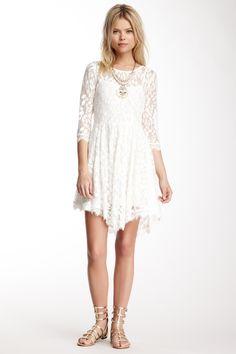 Free People 3/4 Sleeve Fancy Lace Dress
