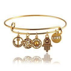 Dragonfly Vintage LOVE Bangle Bracelet