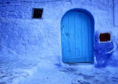 Alleys and Doorways Painted Blue, Morocco