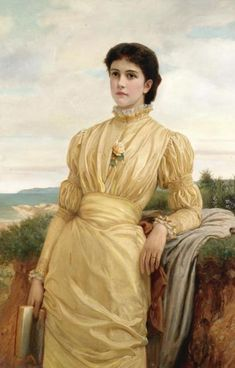 Charles Edward Perugini - Portrait of a lady, c.  1870