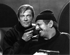 For Your Eyes Only - Roger Moore and Topol goofing around